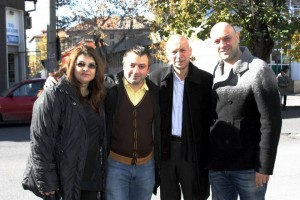 A winning team: Diana Miteva, George Georgiev, Dobri Belivanov (Mayor of Haskovo) & Dimitar Avramov